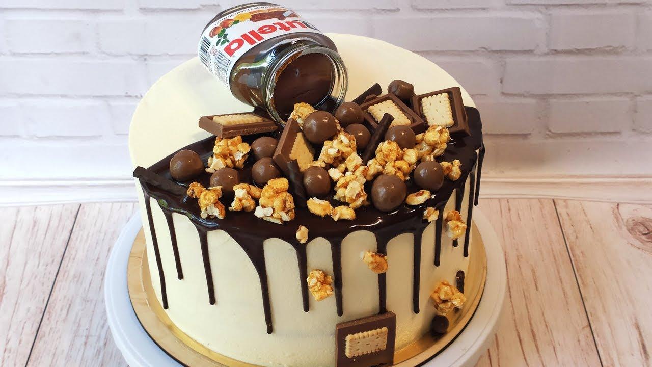 полить торт шоколадом с подтеками