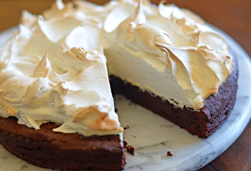 Простой торт с безе