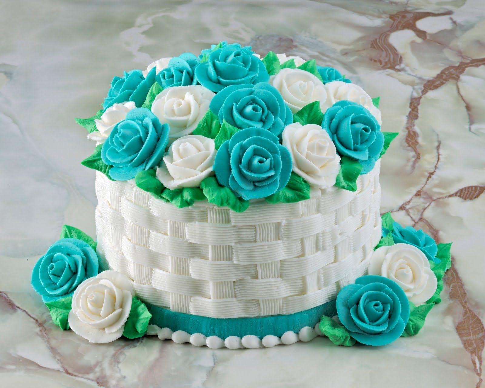 для торта «Корзина с цветами»