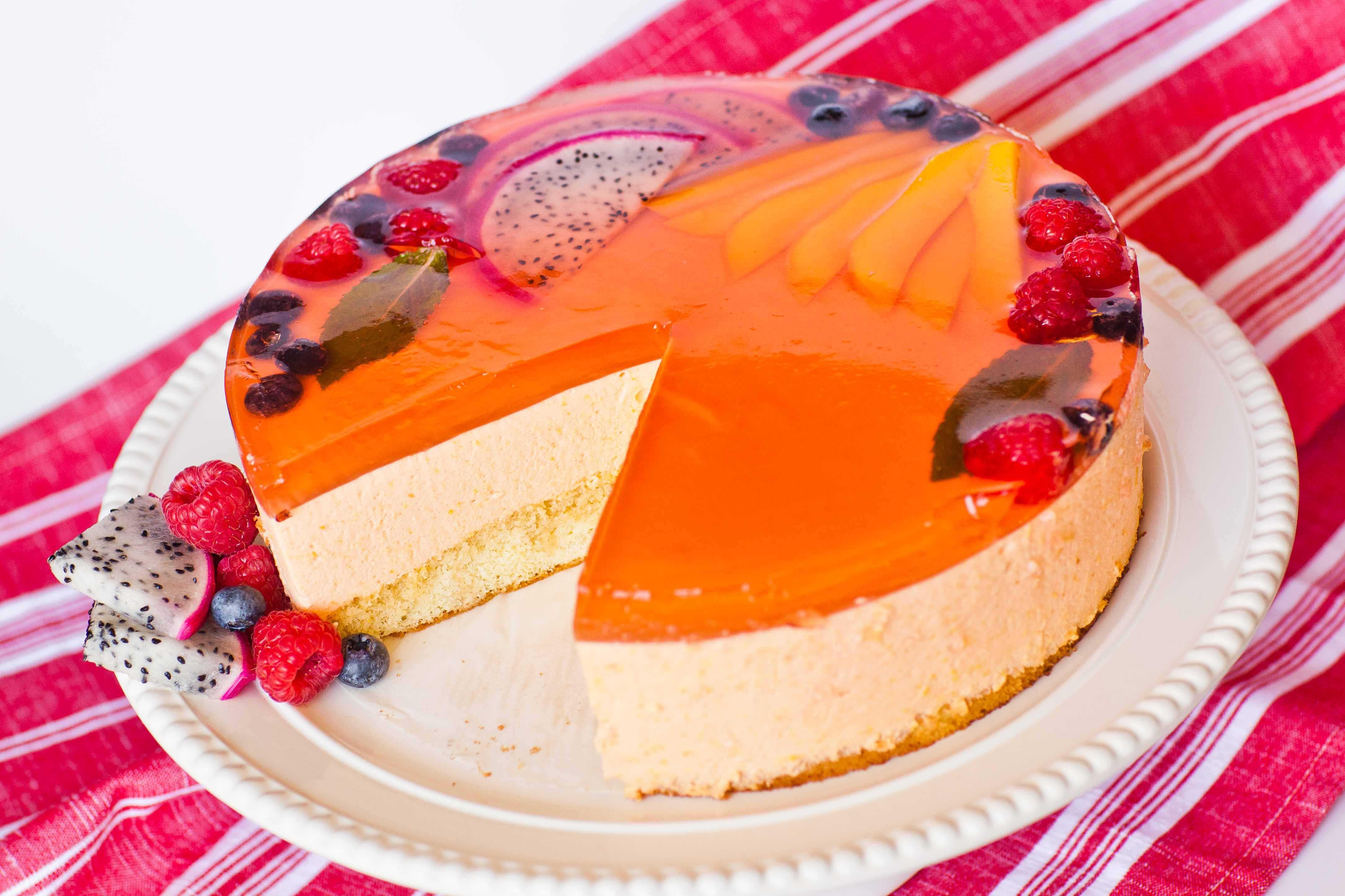 Муссовый тортик манго-маракуйя